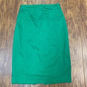 Express Kelly green pencil skirt size 0